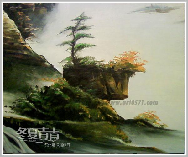 油画风景墙绘