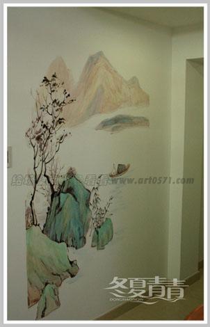国画风格墙绘