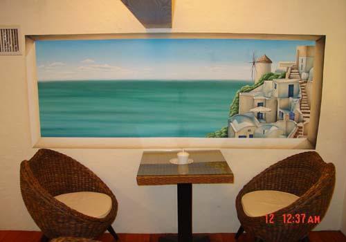 欧式油画类_杭州墙绘|杭州壁画【冬夏青青墙绘】-速写