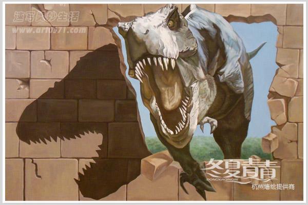 恐龙3D立体画