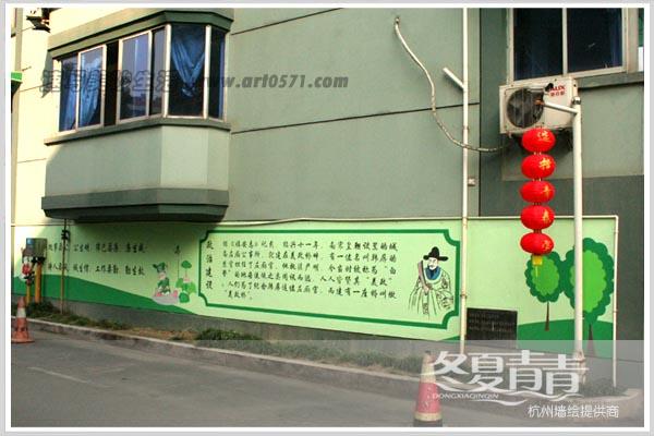 廉政文化墙 十八大墙绘