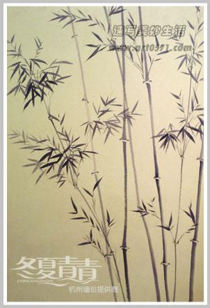 墙绘 竹子