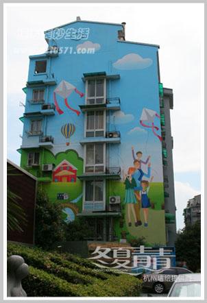 楼房外立面墙绘 楼房彩绘