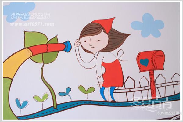 幼儿卡爱卡通墙绘图案