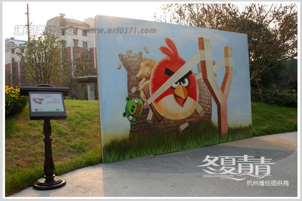 宁波立体画展 愤怒的小鸟立体画