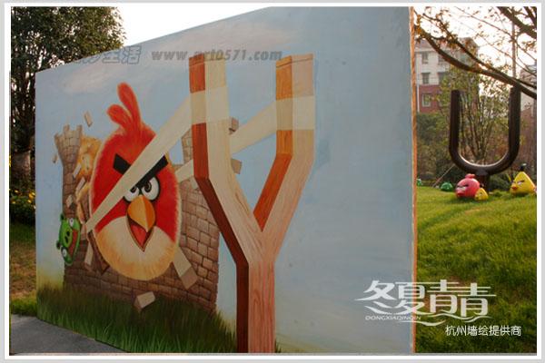 杭州3D立体画愤怒的小鸟