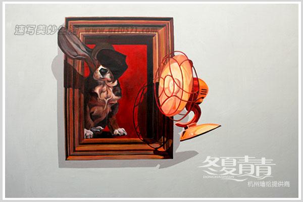 小狗3d立体画 杭州3d画