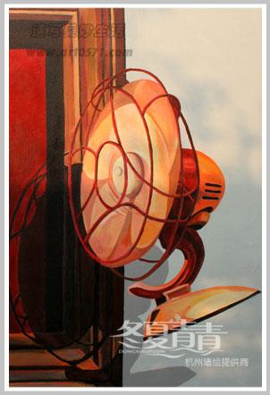 电扇3d立体画