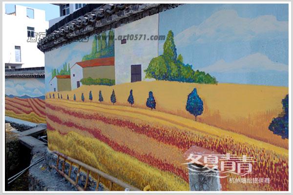 坞根镇农村外墙彩绘