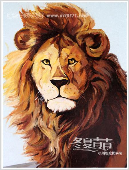 墙绘狮子 杭州动物园
